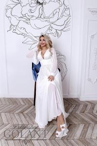 Фото Свадебные платья Легкое непышное свадебное платье Сильва