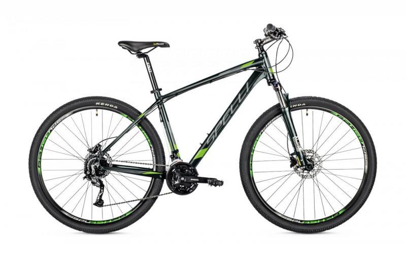 Фото ВЕЛОСИПЕДИ, SPELLI Велосипед Spelli-2019 SX 5900 чорно/зелений/чорний