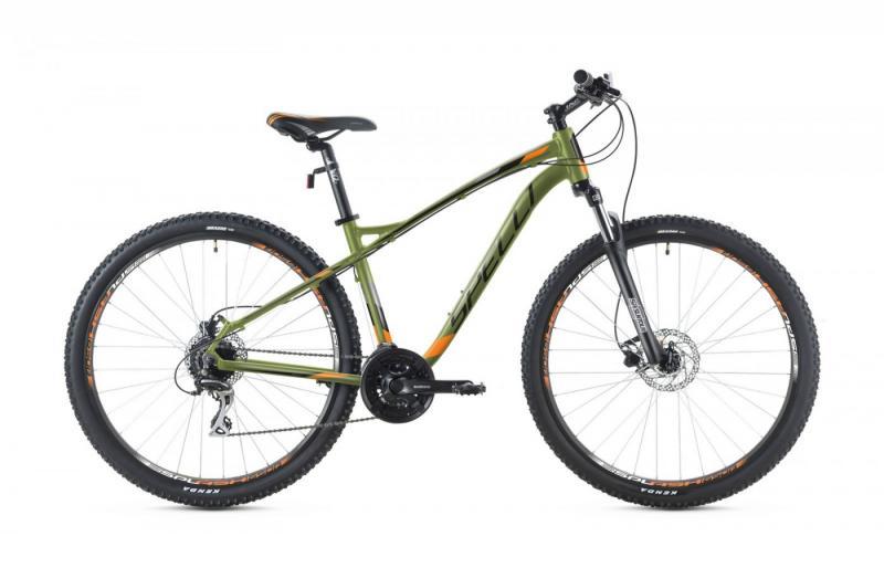 Фото ВЕЛОСИПЕДИ, SPELLI Велосипед Spelli-2019 SX 5200 хакі/помаранч/чорний