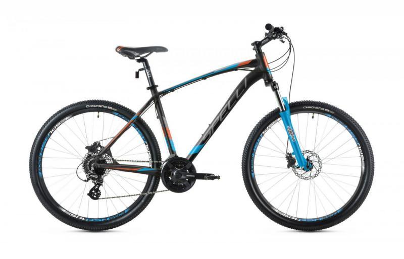 Фото ВЕЛОСИПЕДИ, SPELLI Велосипед Spelli-2019 SX 4700 чорно/помаранч/синій