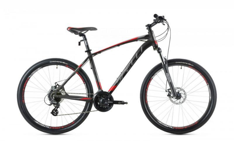 Фото ВЕЛОСИПЕДИ, SPELLI Велосипед Spelli-2019 SX 3700 чорно/червоний/чорний
