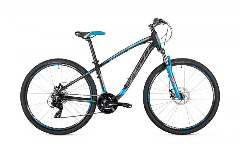 Велосипед Spelli-2019 SX 3200 чорно/сірий/синій