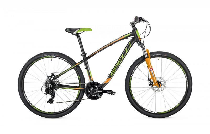 Фото ВЕЛОСИПЕДИ, SPELLI Велосипед Spelli-2019 SX 3200 чорно/зелено/помаранч
