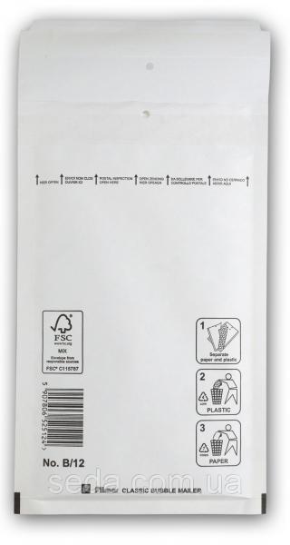 Бандерольный конверт B12, опт, Польша Белый