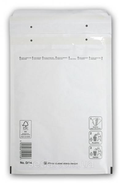 Бандерольный конверт D14, опт, Польша Белый
