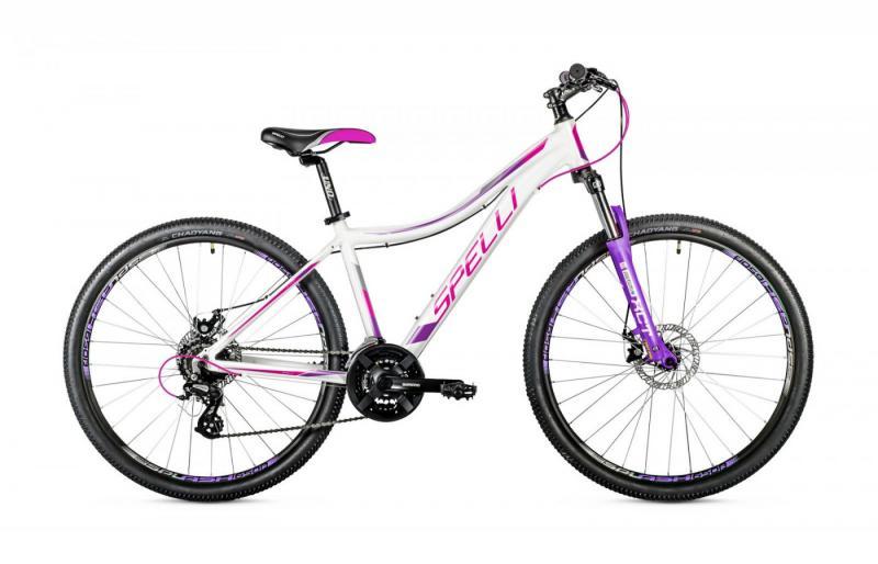 Фото ВЕЛОСИПЕДИ, SPELLI Велосипед Spelli-2019 SX 4500 Lady біло/рожево/бузковий