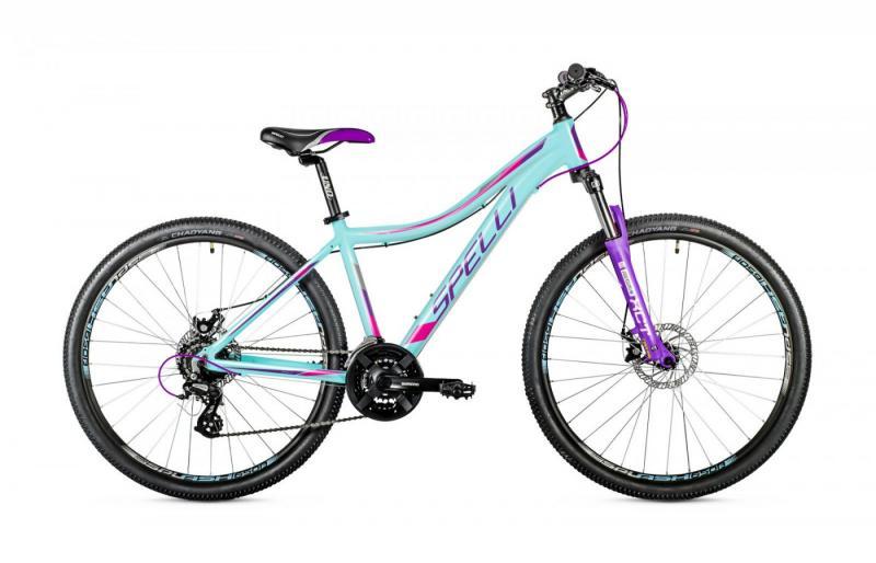 Велосипед Spelli-2019 SX 4500 Lady мятно/рожево/бузковий
