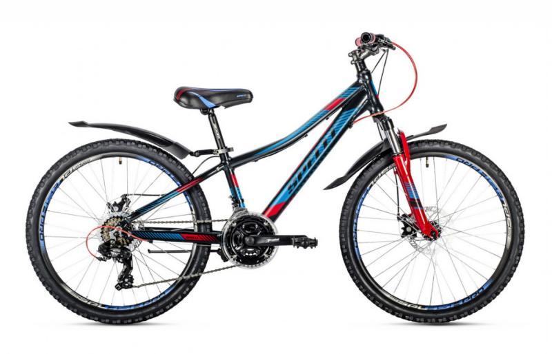 Фото ВЕЛОСИПЕДИ, SPELLI Велосипед Spelli-2018 Cross чорно/червоний/синій