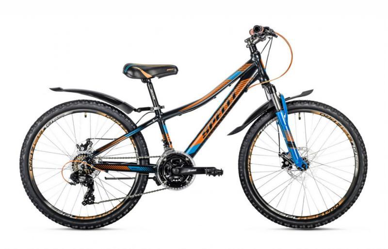 Фото ВЕЛОСИПЕДИ, SPELLI Велосипед Spelli-2018 Cross чорно/помаранч/синій