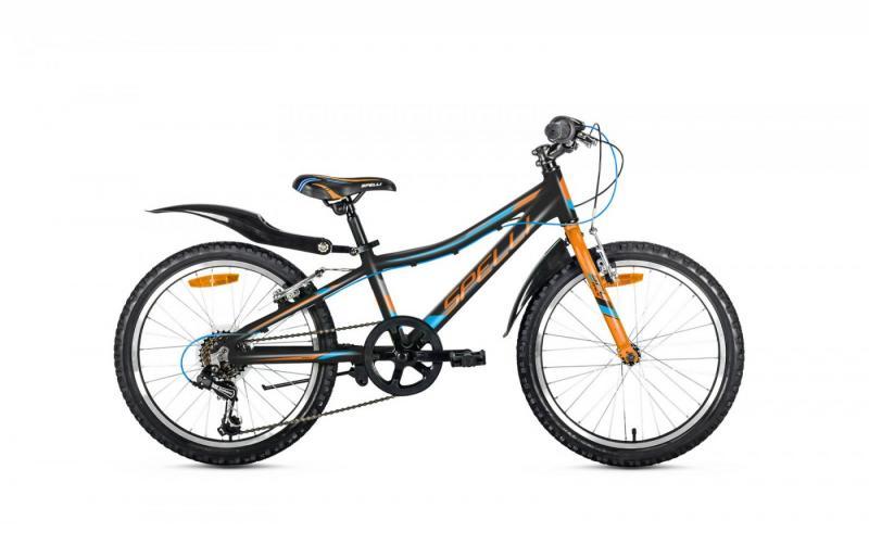 Фото ВЕЛОСИПЕДИ, SPELLI Велосипед Spelli-2019 Active Boy чорно/помаранч/синій