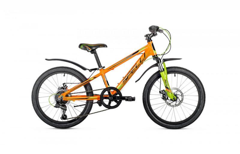 Фото ВЕЛОСИПЕДИ, SPELLI Велосипед Spelli-2019 Cross Boy помаранч/чорний/зелений