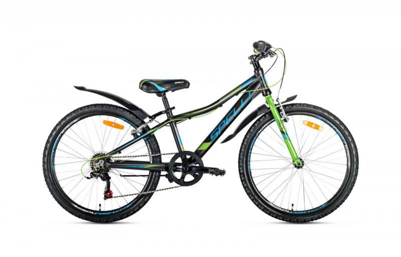 Велосипед Spelli-2019 Active Boy чорно/синій/зелений