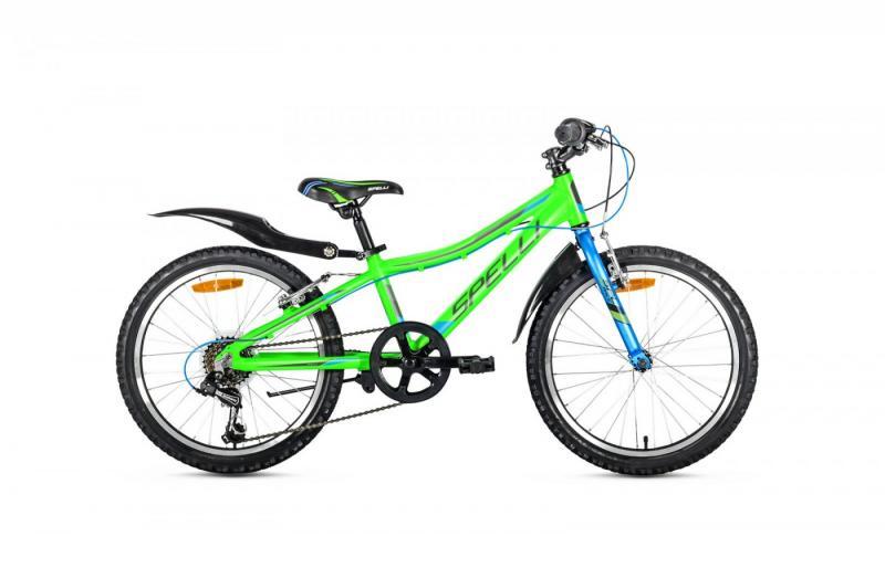 Фото ВЕЛОСИПЕДИ, SPELLI Велосипед Spelli-2019 Active Boy зелено/сіро/синій