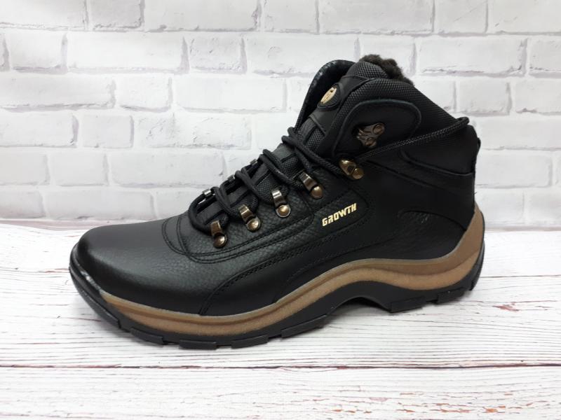 Шикарные кожаные мужские ботинки для зимы. Украина