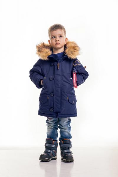 Дитяча зимова парка Olymp — Аляска N-3B KIDS,  Navy