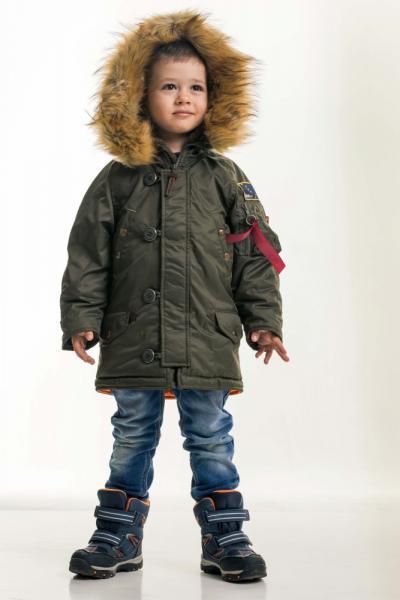 Дитяча зимова парка Olymp — Аляска N-3B KIDS , Khaki