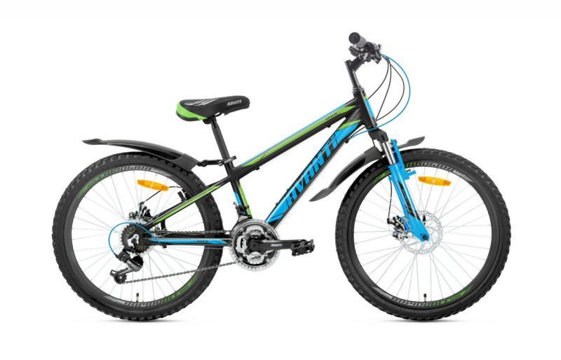 Велосипед Avanti-2019 Rider чорно/синій/зелений