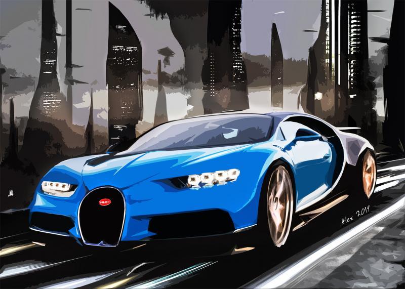 Картина Бугатти Bugatti Chiron