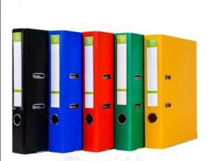Фото Папки, файлы, планшеты, портфели, сумки (ЦЕНЫ БЕЗ НДС), Папки-регистраторы Пaпкa-регистратор А4 YESли 75 мм, ПВХ, мет. уголок, информ-окно, ассорти (см. подробнее)