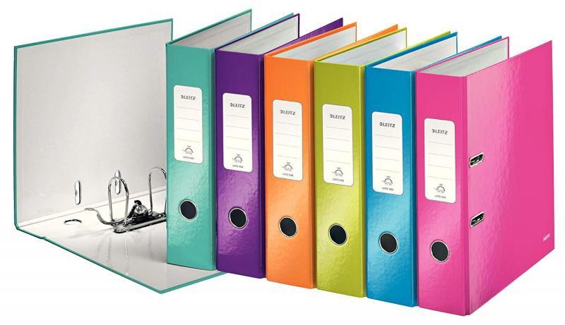 """Папка регистратор А4 """"Exacompta"""", цветной ламинированный картон глянцевый, 7 см корешок, цвета ассорти, Франция"""