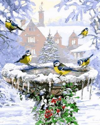 Фото Картины на холсте по номерам, Животные. Птицы. Рыбы... VP786