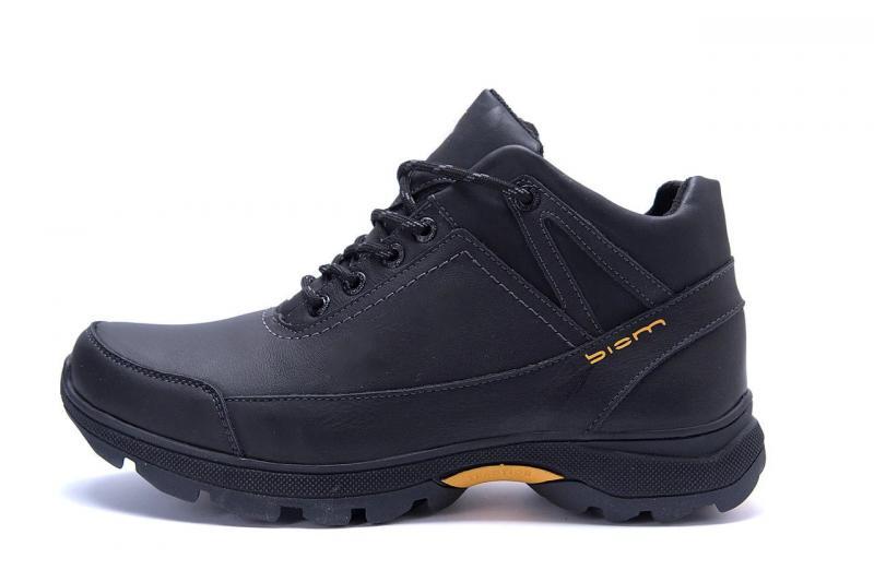 Мужские зимние кожаные ботинки Е-series Active Drive Black  p.k.