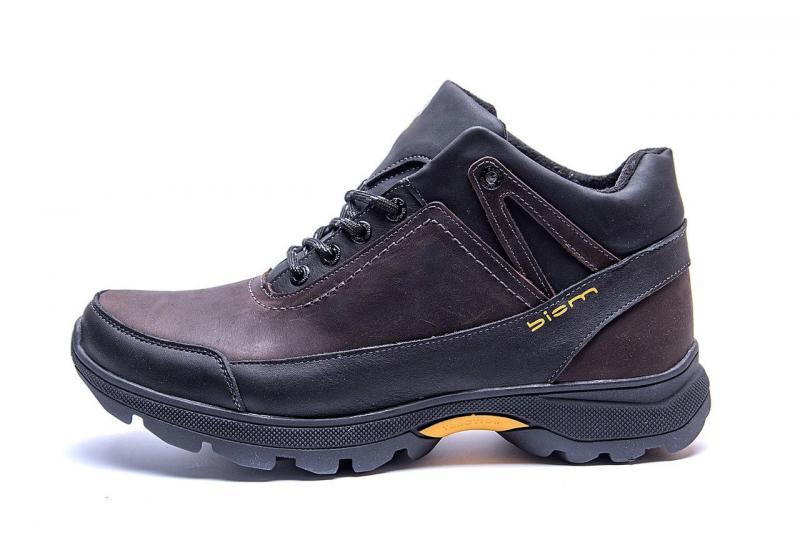 Мужские зимние кожаные ботинки Е-series Active Drive Brown p.k.