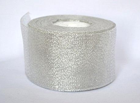 Фото Ленты, Лента парча 0.6мм-5см Лента парча  5 см ,   Серебряного  цвета.
