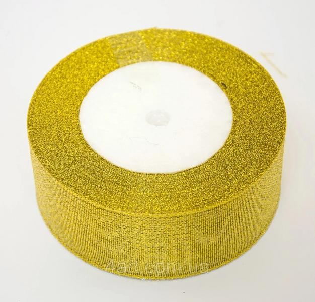 Фото Ленты, Лента парча 0.6мм-5см Лента парча  5 см ,   Золотого  цвета  .