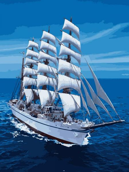 Фото Картины на холсте по номерам, Морской пейзаж VK 029