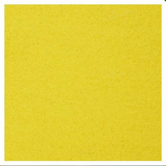 Фото Фетр и фетровые кружочки Фетр  21 *  25 ,5 см.  жёсткий , толщина  1  мм.   Жёлтого  цвета.