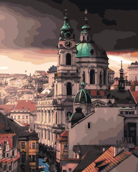 Фото Картины на холсте по номерам, Городской пейзаж GX 26568