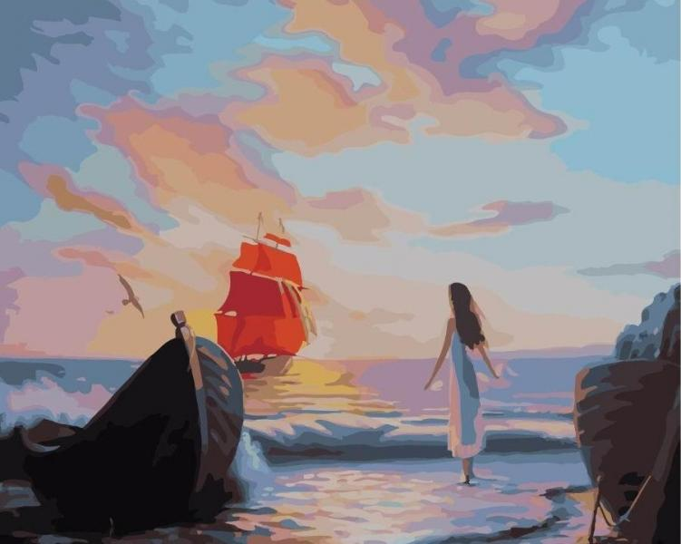 Фото Картины на холсте по номерам, Картины  в пакете (без коробки) 50х40см; 40х40см; 40х30см, Пейзаж, морской пейзаж. GX 21188