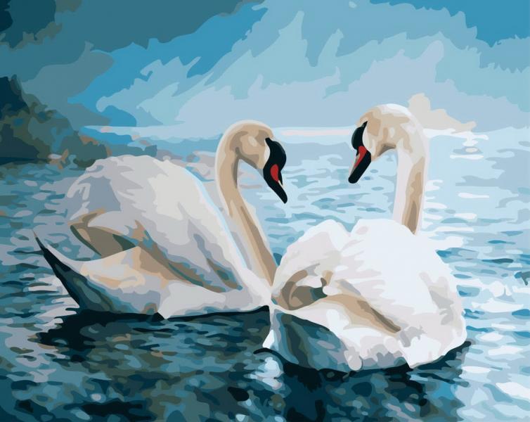 Фото Картины на холсте по номерам, Животные. Птицы. Рыбы... KGX 7648