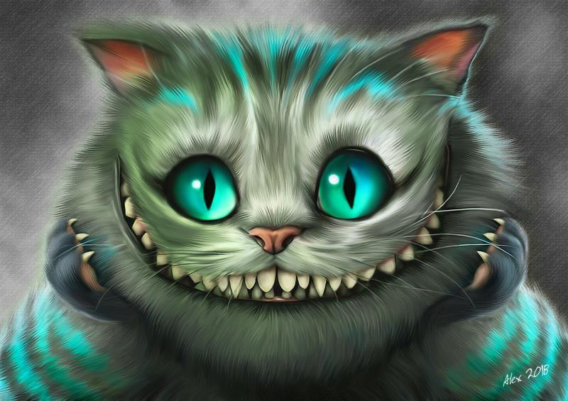 """Картина Чеширский кот из кинофильма """"Алиса в Стране Чудес"""""""