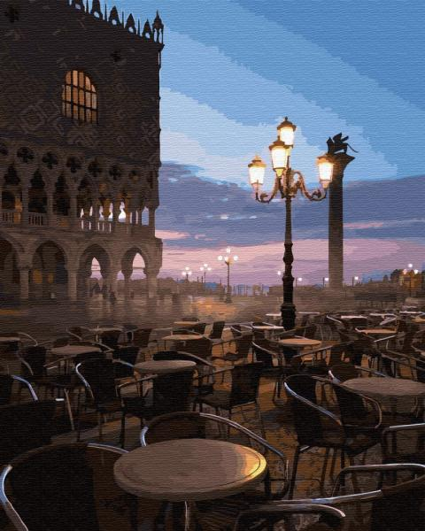 Фото Картины на холсте по номерам, Городской пейзаж GX 32315 Италия. Площадь Святого Марка Картина по номерам на холсте 40х50см без коробки, в пакете