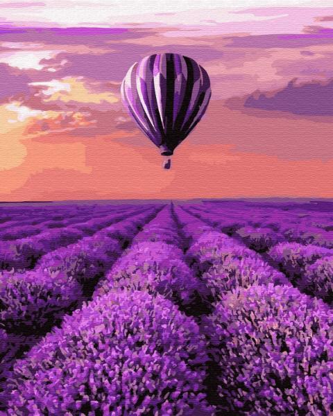 Фото Картины на холсте по номерам, Пейзаж KGX 32305 Воздушный шар в Провансе Картина по номерам на холсте 40х50см