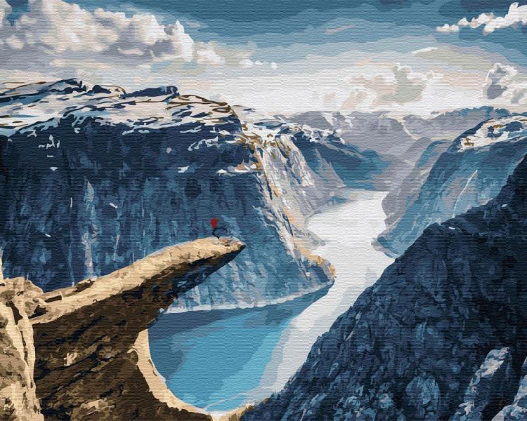 Фото Картины на холсте по номерам, Пейзаж KGX 32326 Норвегия. Язык Троля Картина по номерам на холсте 40х50см