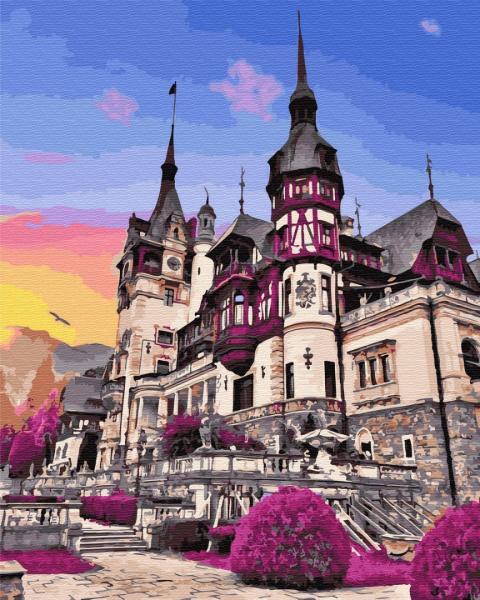 Фото Картины на холсте по номерам, Загородный дом GX 32322 Замок Пелеш в Румынии Картина по номерам на холсте 40х50см без коробки, в пакете