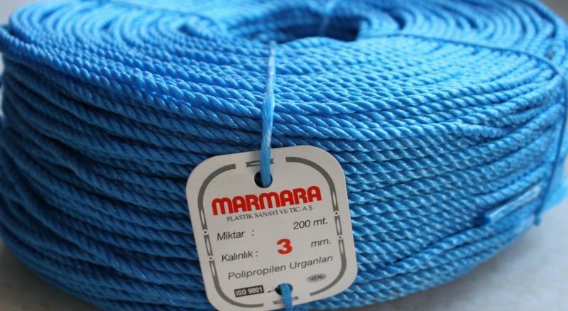 Веревка полипропиленовая ( Мармара ) 3 мм