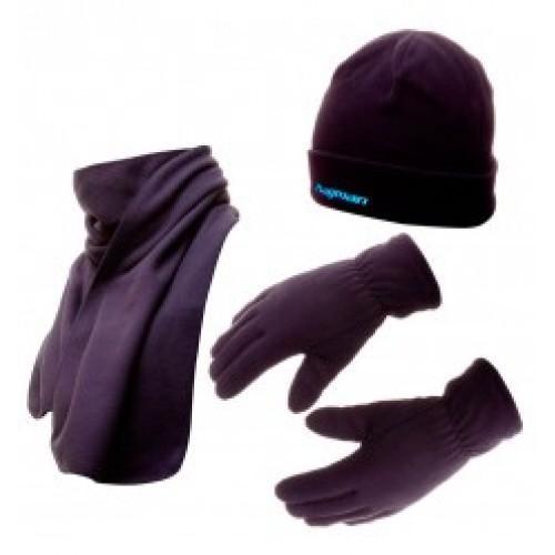 Набор флисовая шапка + шарф + рукавички Flagman