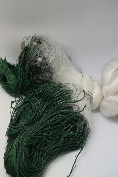 Фото Сети (ДЛЯ ПРОМЫШЛЕННОГО ЛОВА), Сети рыболовные одностенные (для промышленного лова), Вшитый груз Сетка рыболовная(одностенная,вшитый груз,белая,леска)100*1.8м;100 ячейка