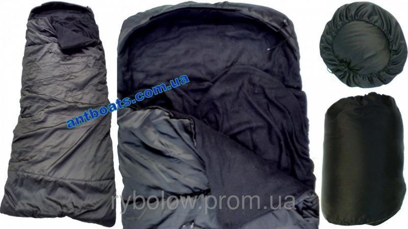 Спальный мешок одеяло с капюшоном,Спальник #34;Турист#34; (до -10 )