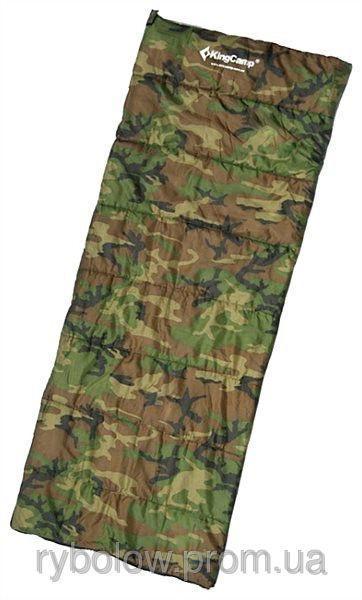 Спальный мешок туристический одеяло без капюшона, спальник King Camp ARMY MAN