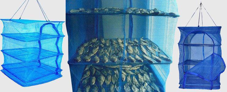 Фото Сушилки (для рыбы, фруктов, овощей, грибов) Сушилка для рыбы (3 полки) 45х45х57