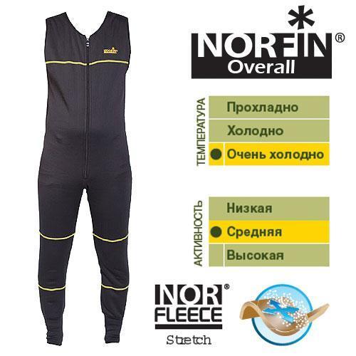 Фото Одежда для рыбаков и охотников, Термобелье Термобельё-комбинезон Norfin Overall