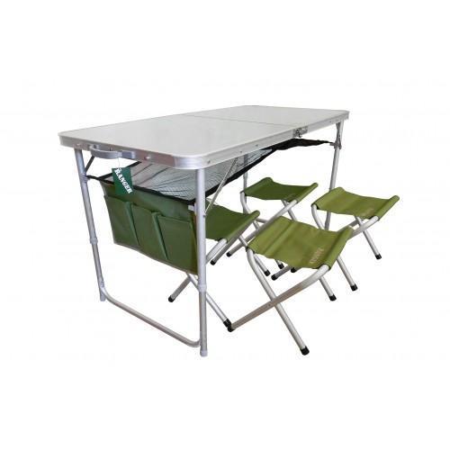 Фото Мебель туристическая Раскладной стол Ranger ТА-21407+ 4 стульчика FS21124