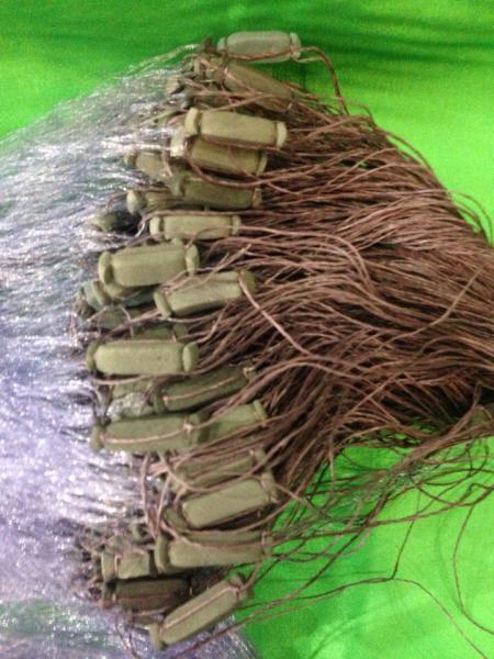 Фото Сети (ДЛЯ ПРОМЫШЛЕННОГО ЛОВА), Сети рыболовные одностенные (для промышленного лова), Груз дробинка Сеть рыболовная  (одностенная, синяя)  100х1.8 м ячейка 35 ДЛЯ ПРОМЫШЛЕННОГО ЛОВА