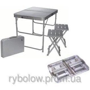 Фото Мебель туристическая Стол и 2 стула, комплект кемпинговый туристический TA-200