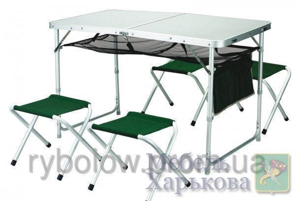 Стол + 4 стула туристический набор алюминиевый - Накидки на мебель в Харькове